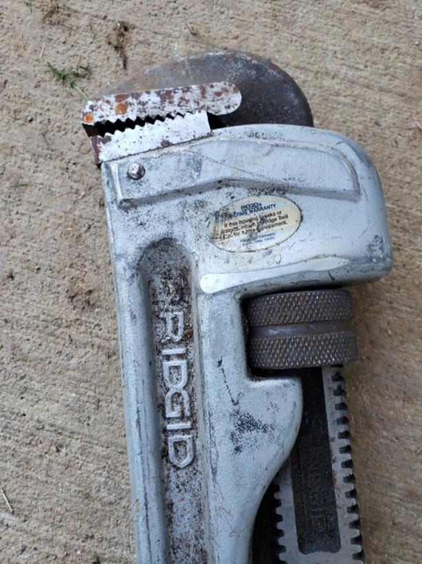 """24"""" aluminum  rigid pipe wrench"""