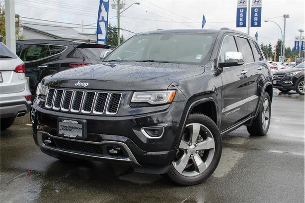 2014 Jeep Grand Cherokee Overland, Navigation, Leather, Sunroof