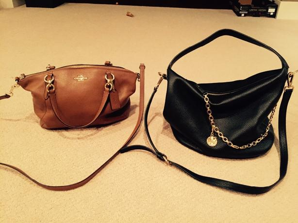 238fdddaea6f Coach purse only. Genuine tan soft leather ...