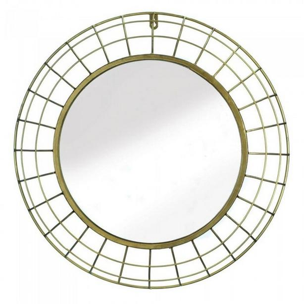 Round Golden Metal Wall Mirror Brand New
