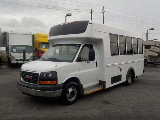 2008 GMC Savana G3500 13 Passenger Bus Diesel with Seatbelts and Wheelchair Acce