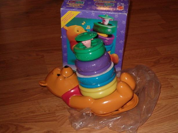 Winnie the pooh musical honey pots roly poly stacker