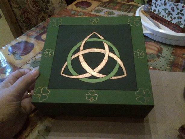 hand painted irish jewellery box