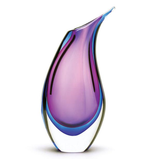 Two-Tone Glass Vase Blue & Purple Stunning Brand New