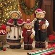 Large Christmas Plush Standup Figurine Bear Family Ornament Set 3PC NEW