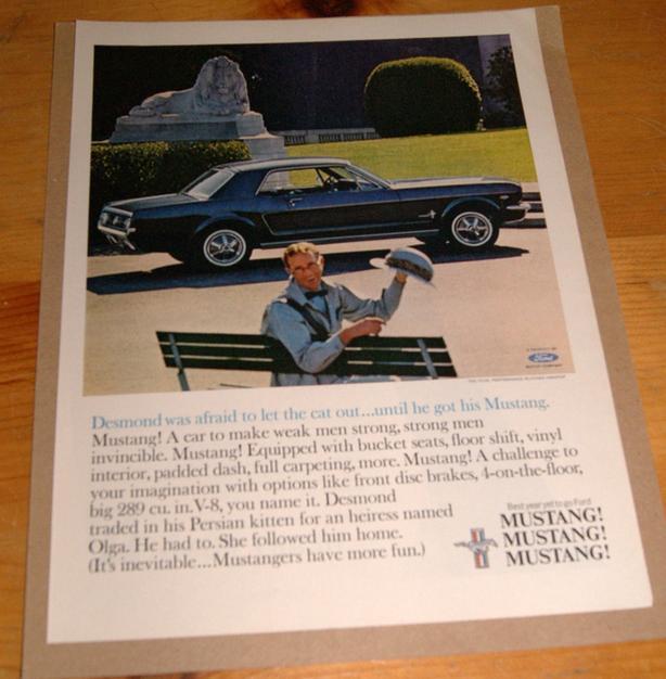 1965 MUSTANG ADVERTISEMENT