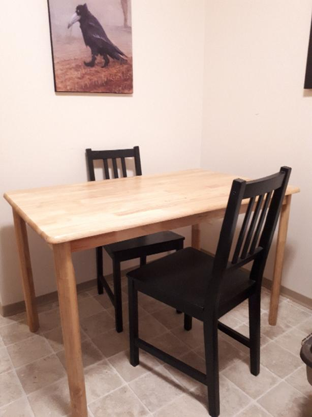 Dining Table With 2 Ikea Chairs West Shore Langford Colwood