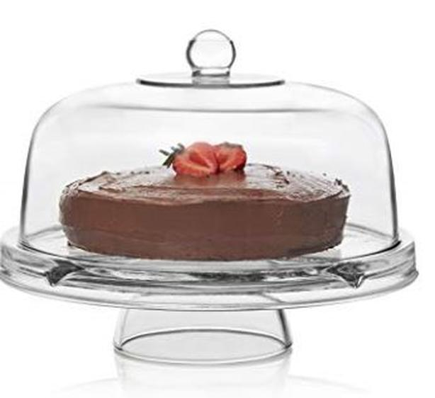 Cake Stand Dome Glass 6 in 1 footed