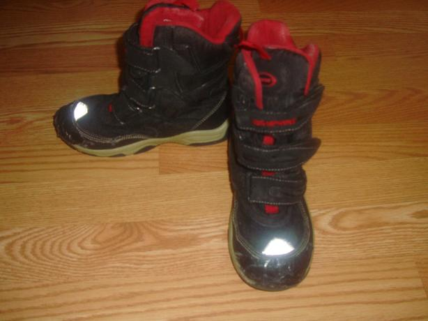 FREE: Winter Boots Black Red Size 13 - Free