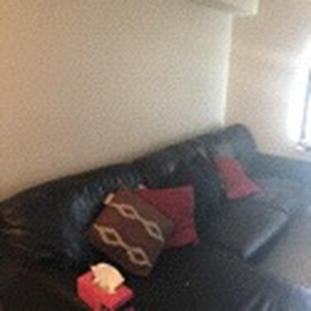 **leather sectional **