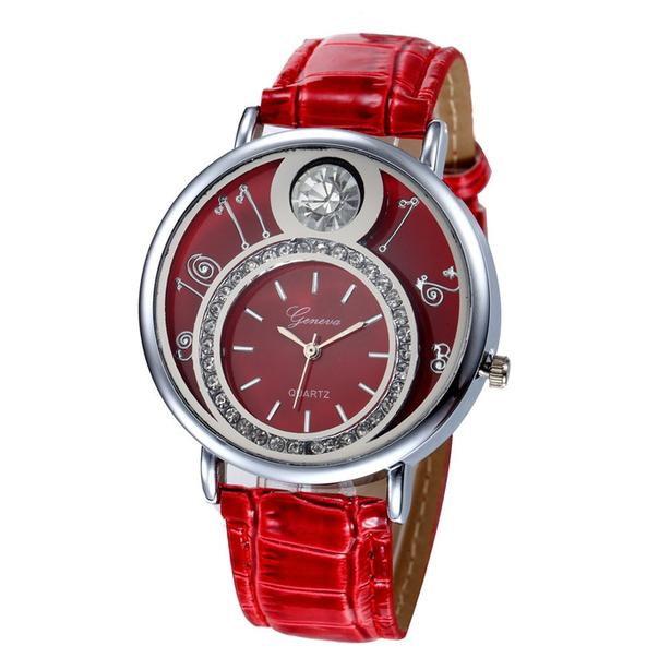 Geneva Women Rhinestone Lady Dress Quartz Wrist Watch