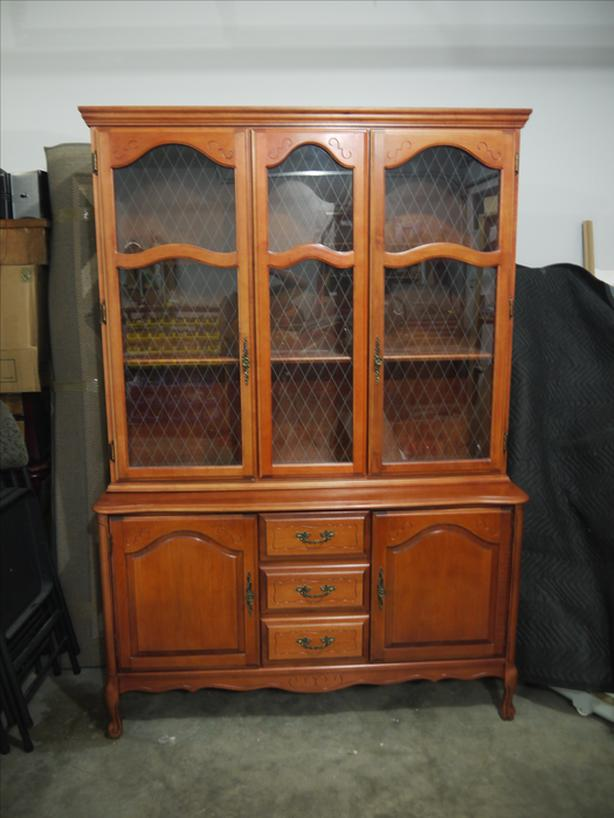 buffet with lighted china cabinet