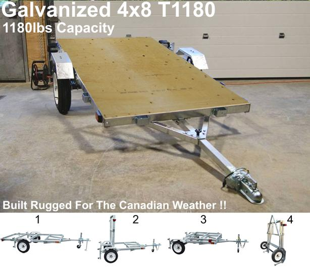 Utility Trailer - (Galvanized Folding Trailer) (Toronto)