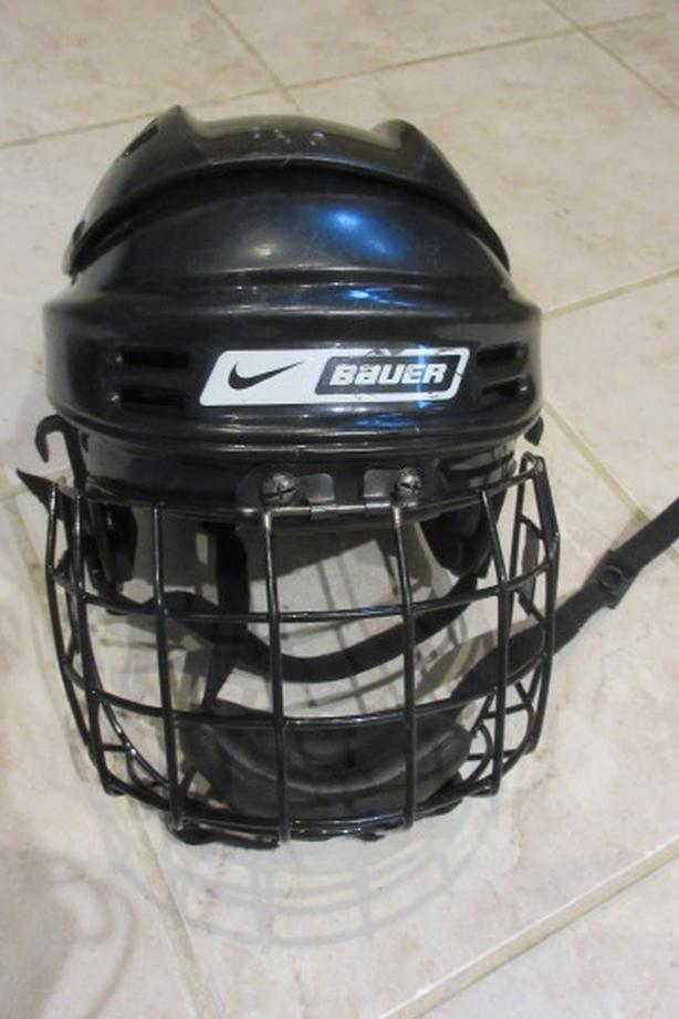 Bauer hockey helmets with cage, Size S + Size M
