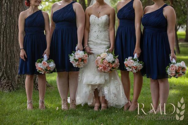 4 NAVY BRIDESMAID DRESSES