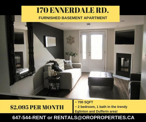 Trendy Eglinton West Gem, Not your Average Basement Suite!