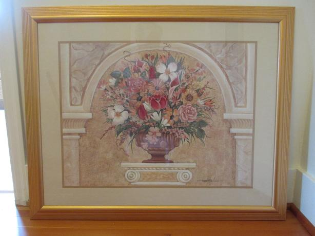 Beautiful Framed and Matted Print with Glass