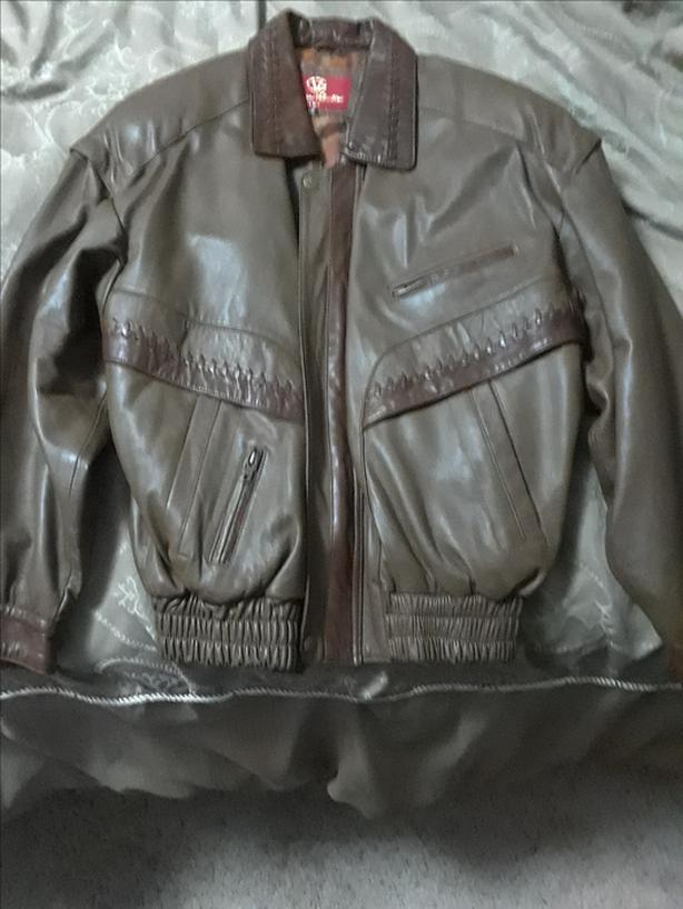 New Men's Leather Jacket size 48