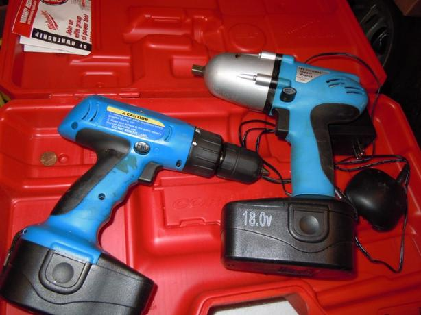 """Cordless Impact Wrench, 3/8"""" and Drill 18 volt"""