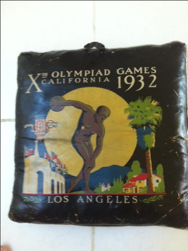 Very Rare 1932 Olympic Seat Cushion