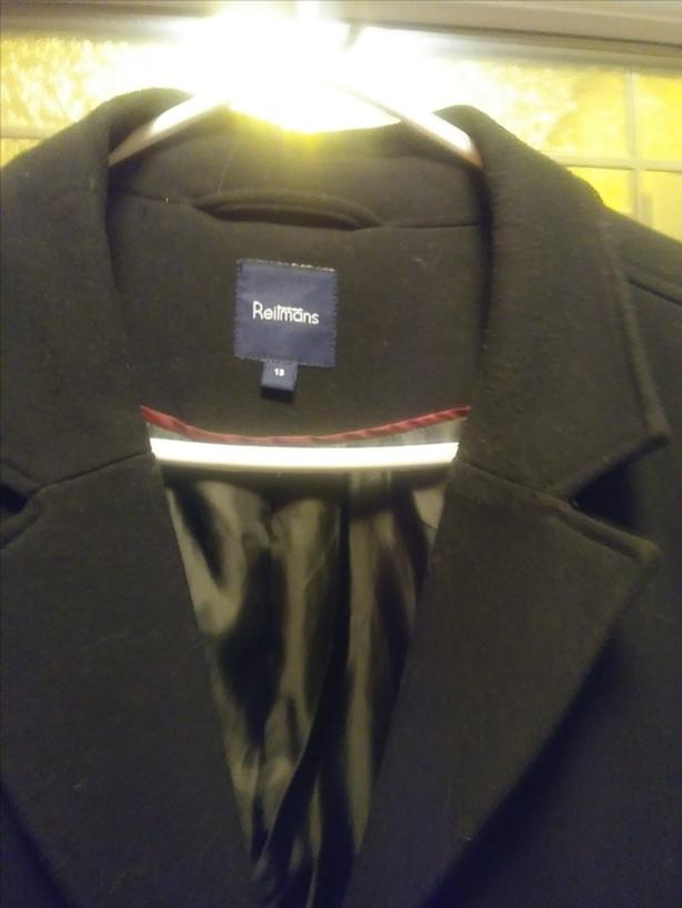 Women's Black Dress Coat (size 13)