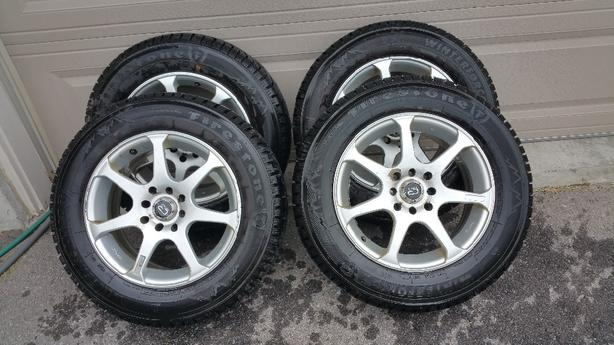4 Fireston Winterforce Winter tires 15inch and Core Racing Rims  .