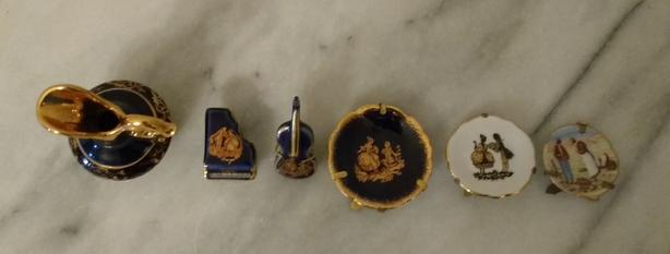 CHOICE OF LIMOGES MINIATURES