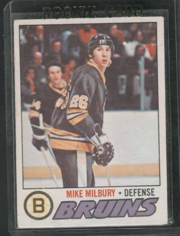 Mike Milbury Rookie Card Boston Bruins