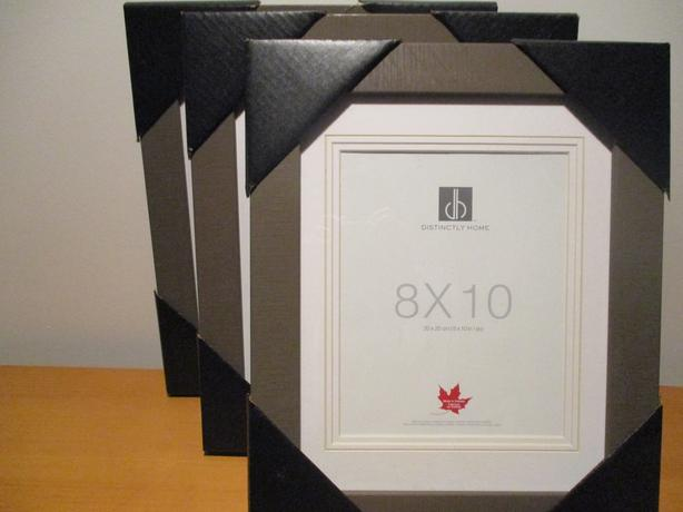 Three Picture Frames - Double Matted  Framed with Glass Finish