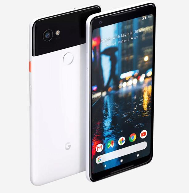 Google Pixel 2 XL Unlocked Black & White 64gb