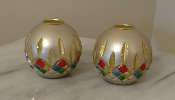 WATERFORD LISMORE HOLIDAY HEIRLOOM CANDLE HOLDERS