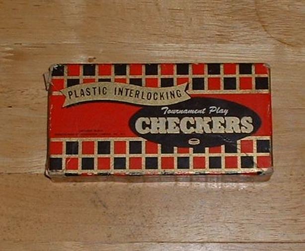 1955 Checkers Set