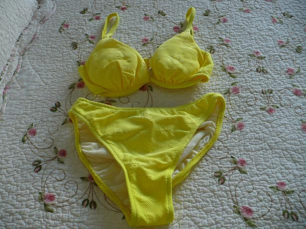 Bright Yellow 2 Piece Bathing Suit
