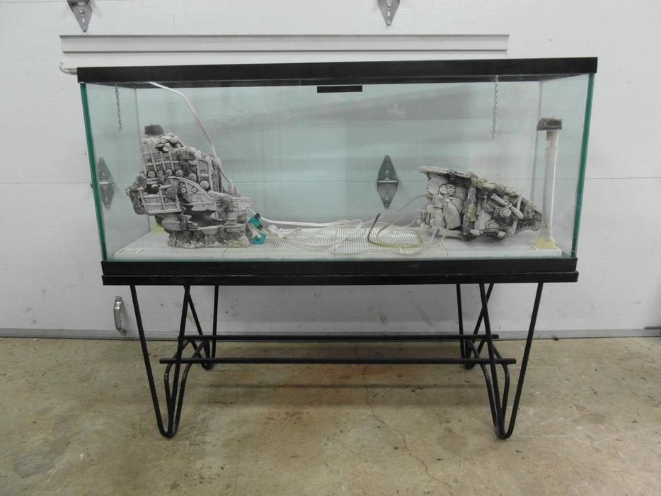 $175 · 60 gallon fish tank with extras & a good stand- Duncan