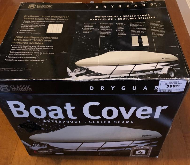 $345 · Boat canopy cover for 20'-22' boat