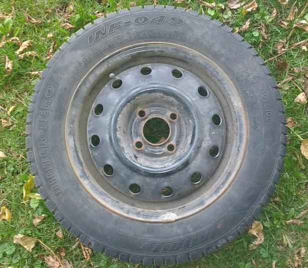 winter tires on rim