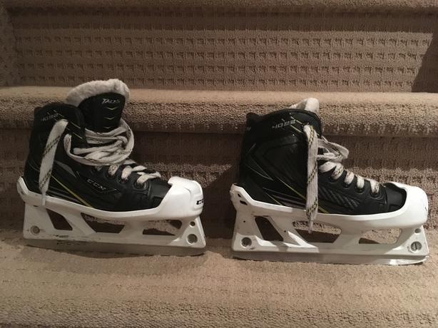 CCM Tacks Goalie skates size 13D youth