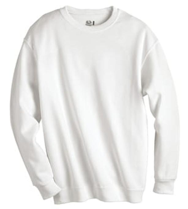 Mens size XL white crew neck sweat shirts by Fruit of the Loom