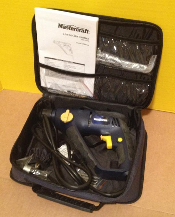 Mastercraft 2.5A SDS Rotary Hammer/Drill, Driver - Brand New