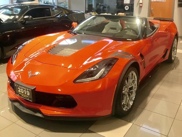 BC's ONLY 2019 Corvette Grand Sport 3LT Convertible In Sebring Orange