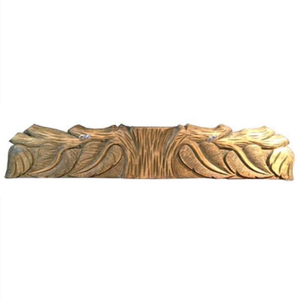 Antique Quebec carved wooden architectural piece