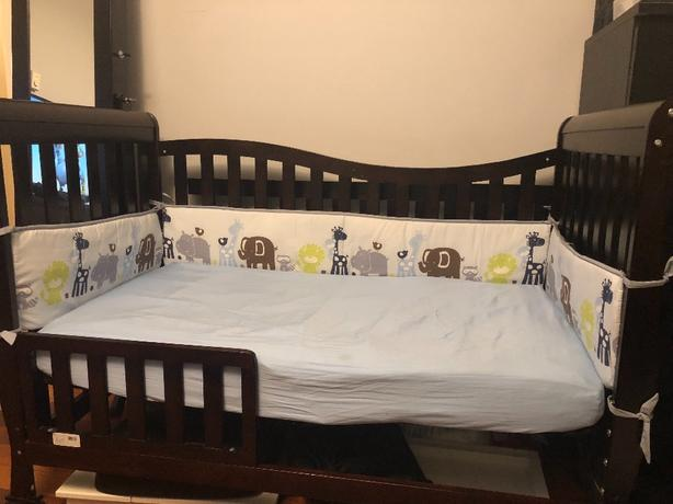 Toys R Us Crib To Toddler Bed.Espresso Crib To Toddler Bed Frame Amp Assesories Saanich