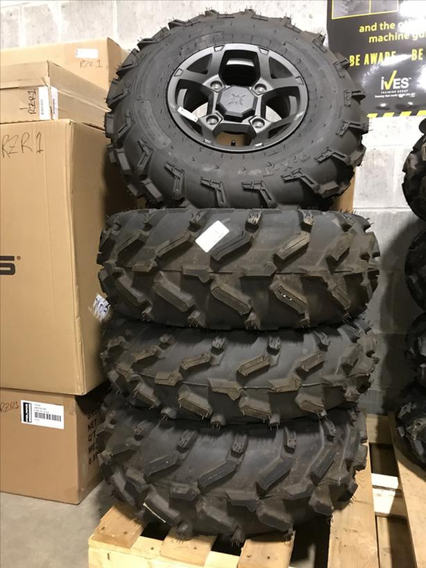 POLARIS TAKE OFF TIRE AND ALUMINUM RIM SET