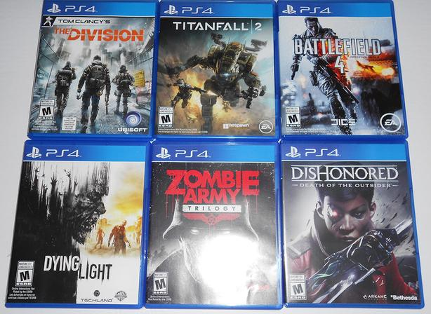13 PS4 Games - USED - Various Prices