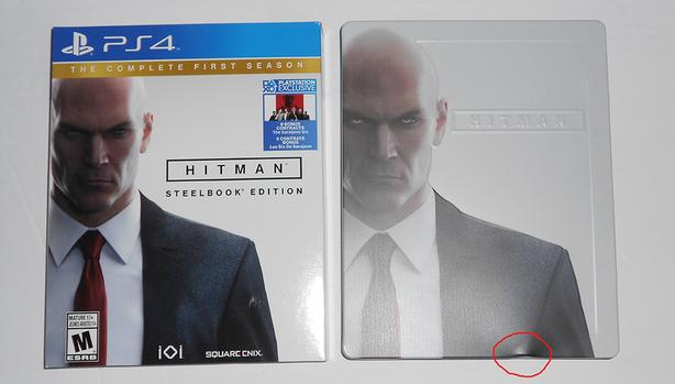PS4 Game - Hitman Steelbook Edition - Like New/Dent