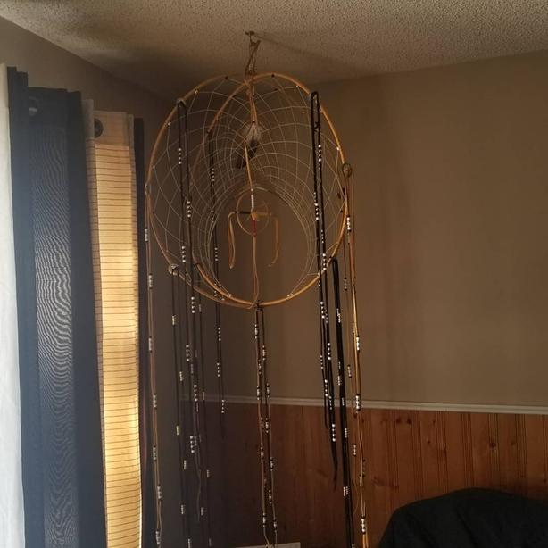 Double hoop dreamcatcher