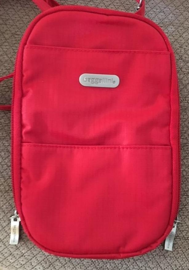 Baggallini Red Crossbody Travel Pouch