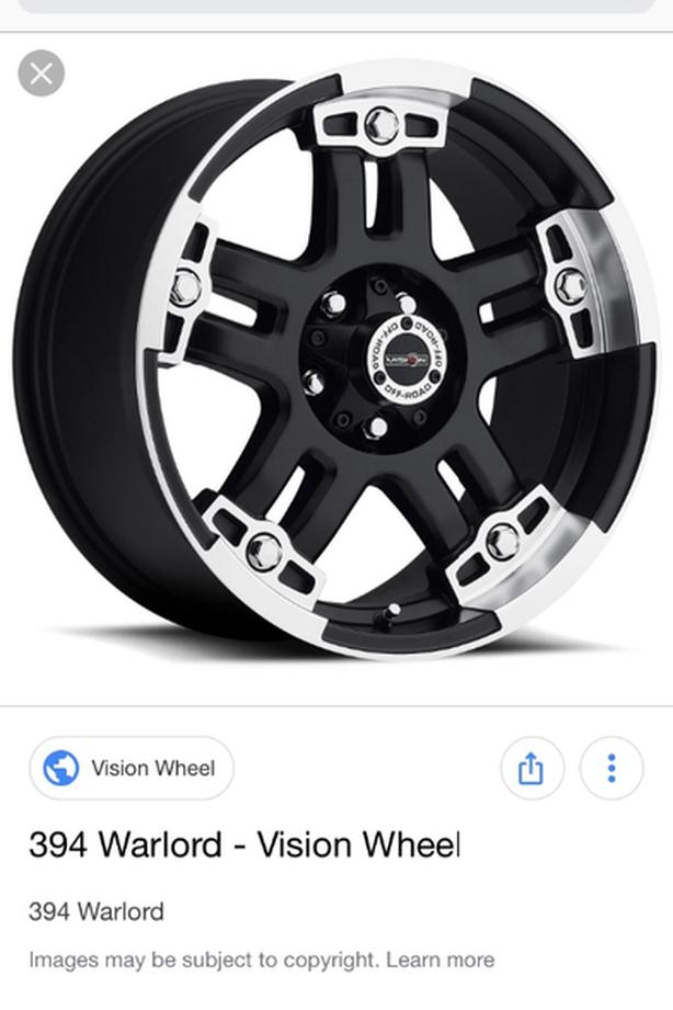 "18"" vision truck rims"