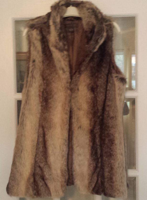Women's Sleeveless Furry Throwover