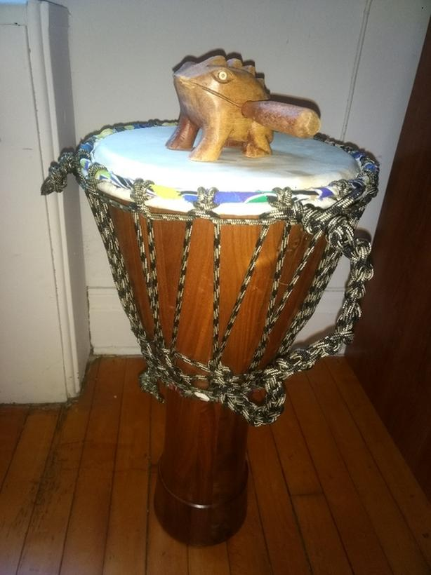 djembe with new head
